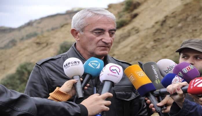 """Əziz Qaralov: """"Sürüşmə evlərin hasarlarına doğru yaxınlaşır"""""""