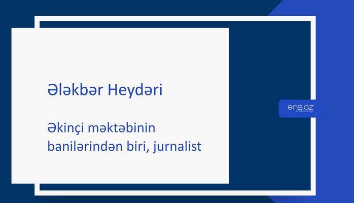 Ələkbər Heydəri