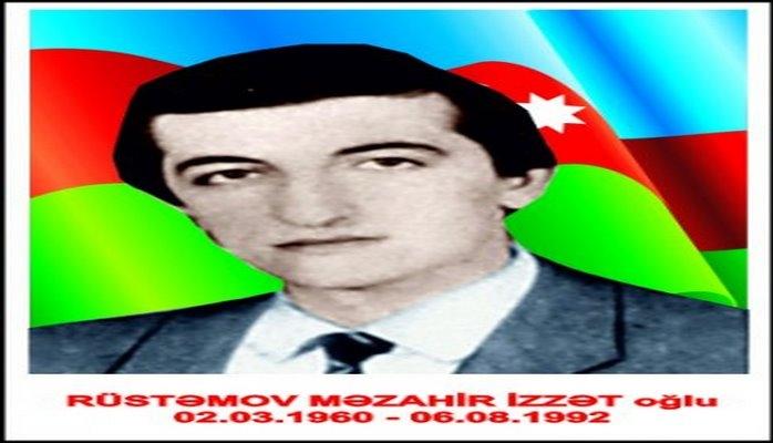 Milli Qəhrəman Məzahir Rüstəmovun xatirəsinə həsr olunmuş tədbirlər keçirilib