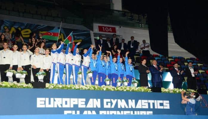 Bakıda bədii gimnastika üzrə Avropa çempionatının qalib komandaları mükafatlandırılıb