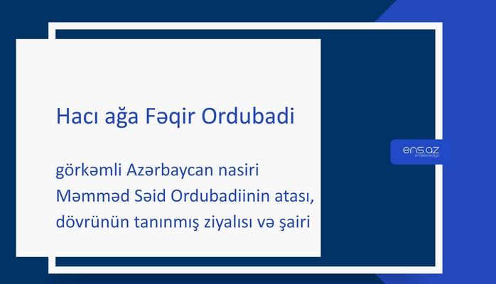 Hacı ağa Fəqir Ordubadi
