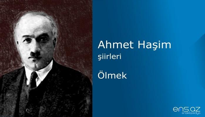 Ahmet Haşim - Ölmek