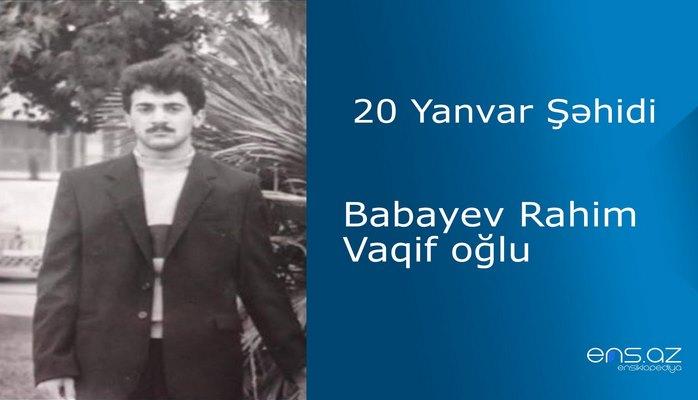 Babayev Rahim Vaqif oğlu