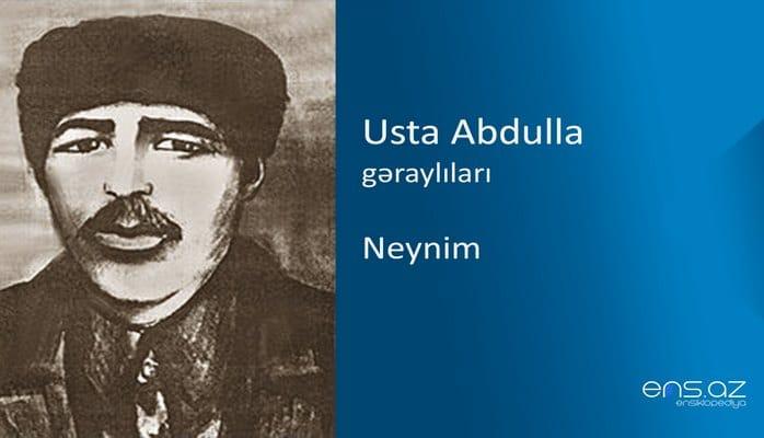 Usta Abdulla - Neynim