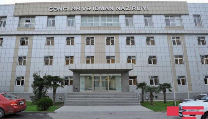 Azərbaycan Gənclər və İdman Nazirliyi bəyanat yayıb