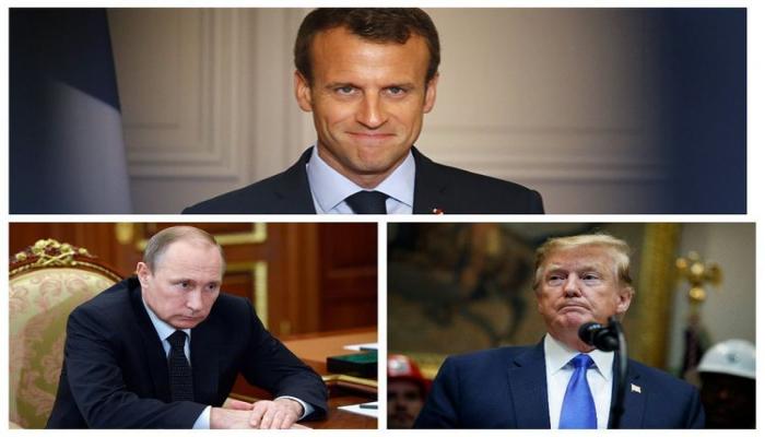Макрон намерен обсудить ситуацию в Карабахе с Путиным и Трампом