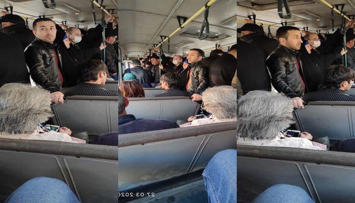 """Xırdalan sakini: """"Avtobuslarda sərnişin sıxlığı ilə virusun yayılmasının qarşısını almaq çətindir"""""""