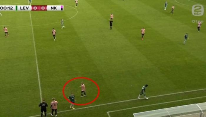 Estoniyada futbolçu 13-cü saniyədə əvəzləndi