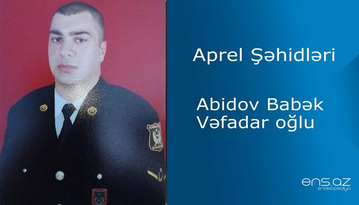 Babək Abidov Vəfadar oğlu