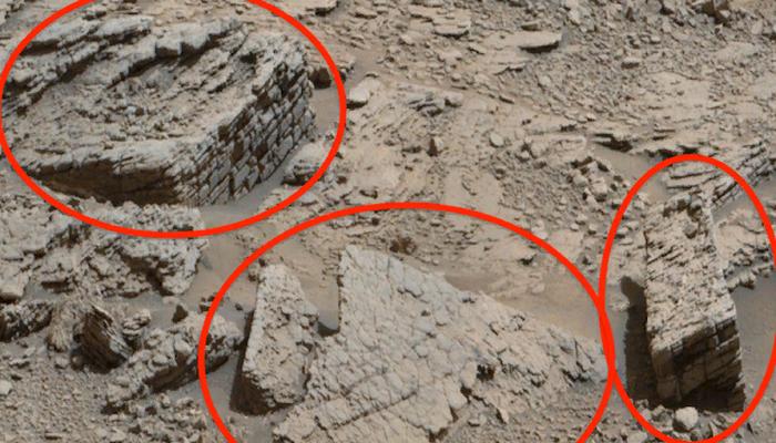 На Марсе замечены остатки существования працивилизации