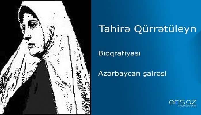 Tahirə Qürrətüleyn