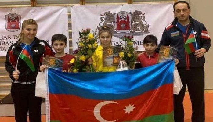 11 yaşlı idmançılarımız Latviyada üç medal qazandı