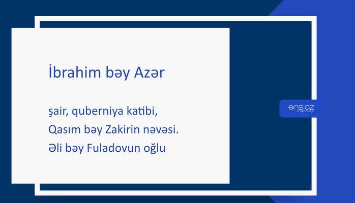 İbrahim bəy Azər