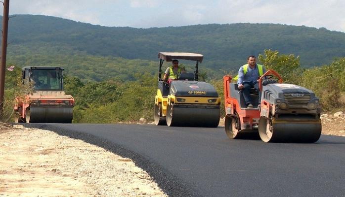 Şabran rayonunda 25 km uzunluğunda avtomobil yolu yenidən qurulur