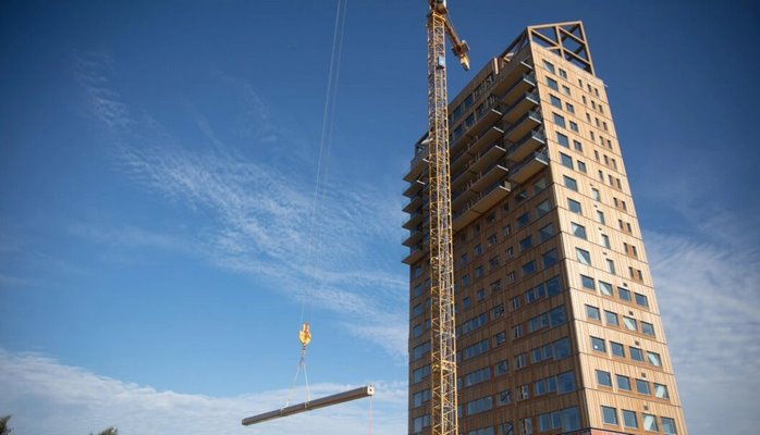 Dünyanın ən yüksək taxta binası necə görünür