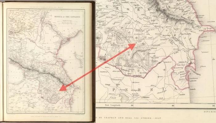 Azərbaycanın XIX əsr -ə aid xəritəsi