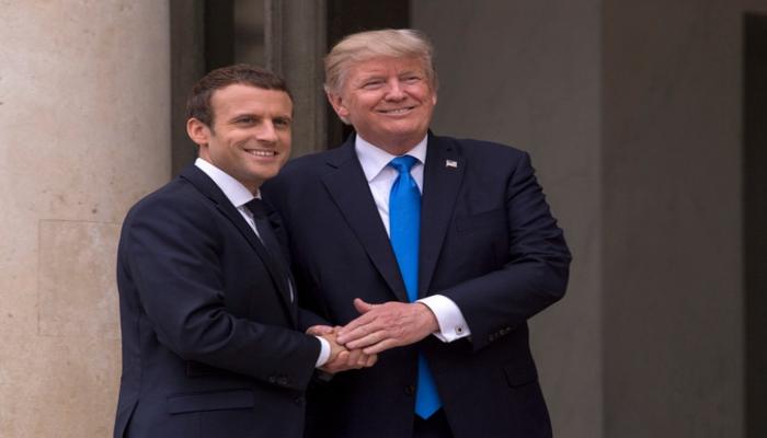 ABŞ və Fransa prezidentləri arasında telefon danışığı olub