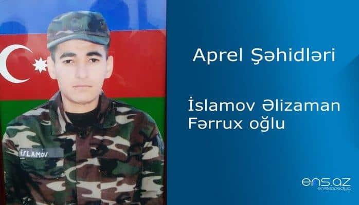 Əlizaman İslamov Fərrux oğlu