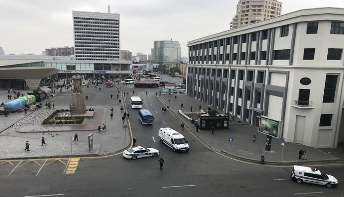 Площадь перед станцией метро «28 мая» блокирована полицией