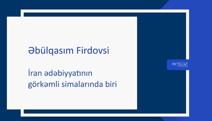 Əbülqasım Firdovsi