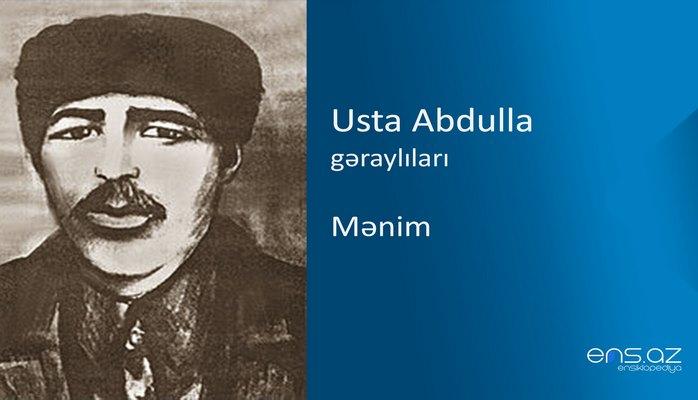 Usta Abdulla - Mənim
