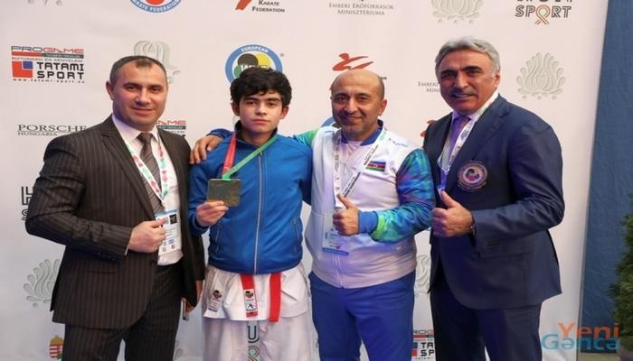 Gəncə karateçisi Avropa çempionu oldu