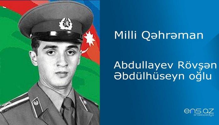 Rövşən Abdullayev Əbdülhüseyn oğlu