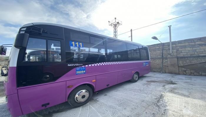 Daha bir marşrut xətti üzrə avtobuslar yenilənir