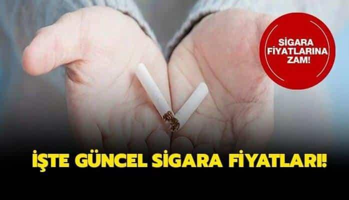 Güncel sigara fiyatları ne kadar oldu? Sigara fiyatları listesi yayınlandı!