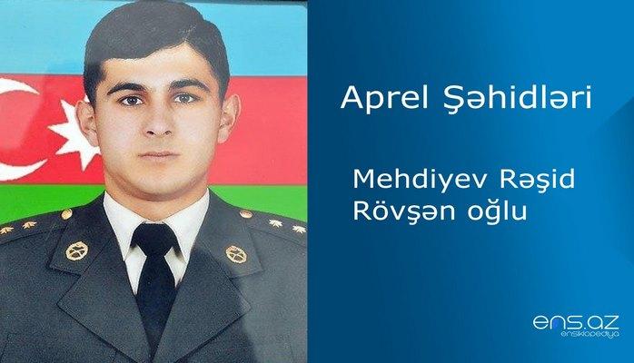Mehdiyev Rəşid Rövşən oğlu