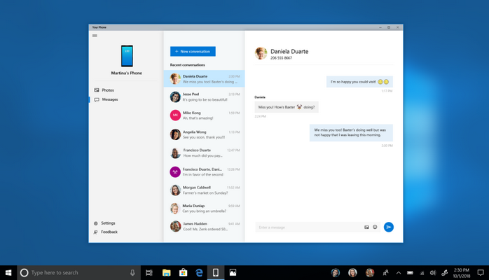 Windows 10 will soon show you your phone's text messages