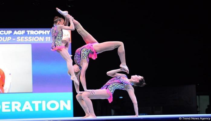 Akrobatika gimnastikası üzrə Dünya Kubokunun finalları start götürüb