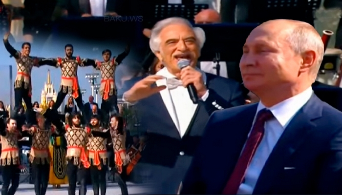 Ermənilər Putinin qarşısında Azərbaycan yallısı oynadı: Polad mahnımızı oxudu