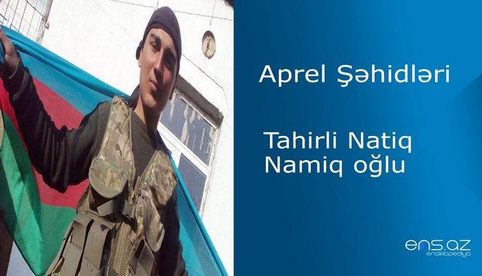 Tahirli Natiq Namiq oğlu