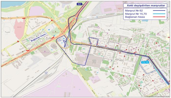 В Баку меняется движение ряда автобусных маршрутов