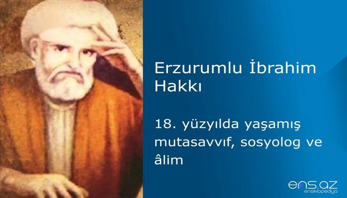 Erzurumlu İbrahim Hakkı