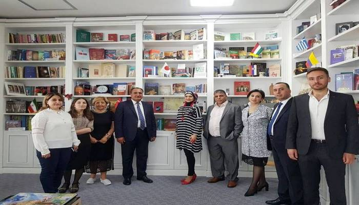 İordaniya parlamentinin deputatları Mərkəzi Elmi Kitabxananı ziyarət ediblər