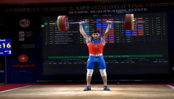 Azərbaycan ağırlıqqaldıranı Avropa birinciliyində bürünc medal qazanıb