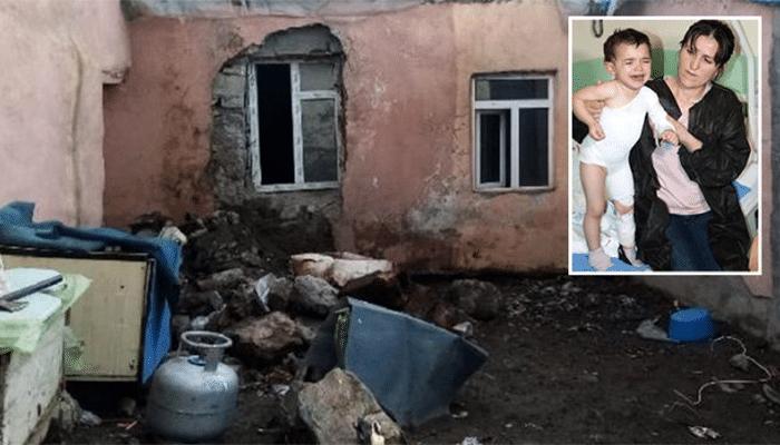 Evlerinin yandığını gören kahraman anne, alevlerin arasına dalarak minik kızını kurtardı