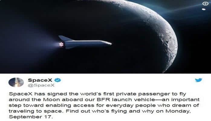 """""""SpaceX"""" dünyada ilk dəfə Ayın ətrafına sərnişin reysi təşkil edəcək"""