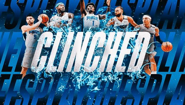 The Orlando Magic officially qualified to the playoffs
