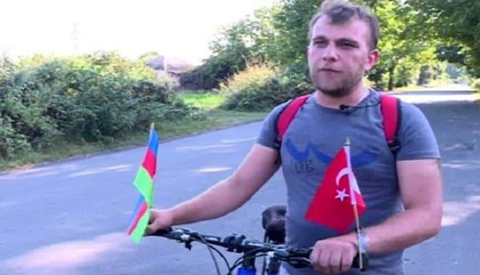 Azərbaycanlı gənc velosipedlə Türkiyəyə yollandı — Ərdoğanla görüşəcək