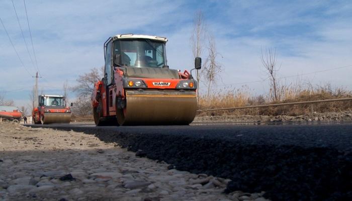 Göyçayda yerli əhəmiyyətli yol yenidən qurulur