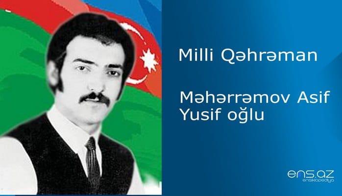 Asif Məhərrəmov Yusif oğlu