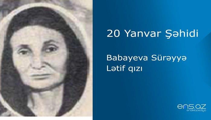 Babayeva Sürəyyə Lətif qızı