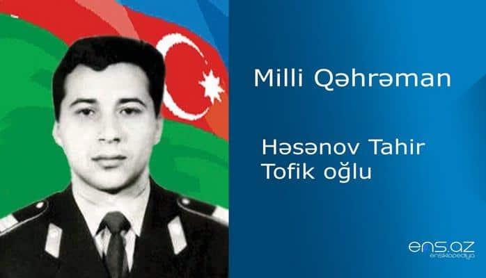 Tahir Həsənov Tofik oğlu