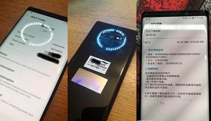 """""""Samsung Galaxy Note S9""""un fotoları yayıldı"""