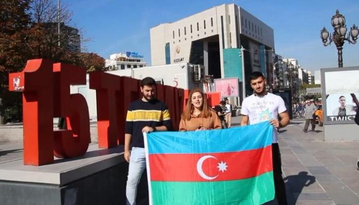 Ankaralılar Azərbaycan bayrağını belə qorudu