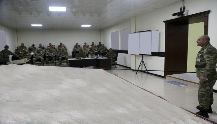 В ходе учений азербайджанской армии отработано взаимодействие войск на макете местности
