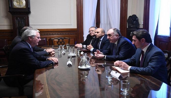 Elmar Məmmədyarov Argentina parlamentində görüşlər keçirib
